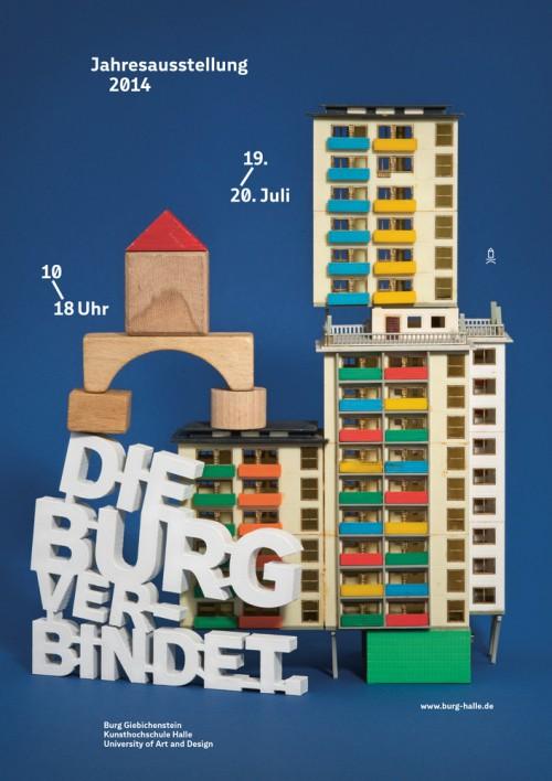 Plakat für die Jahresaustellung der Burg