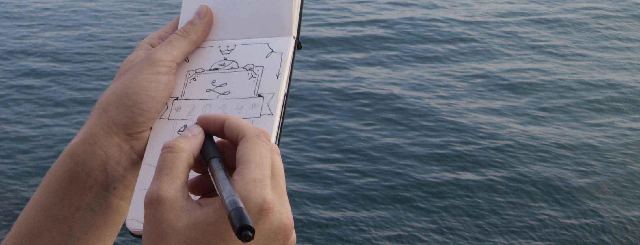 Segelboot Skizzenbuch