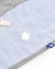 Label und Detail der Winter-Labyrinth-Hose