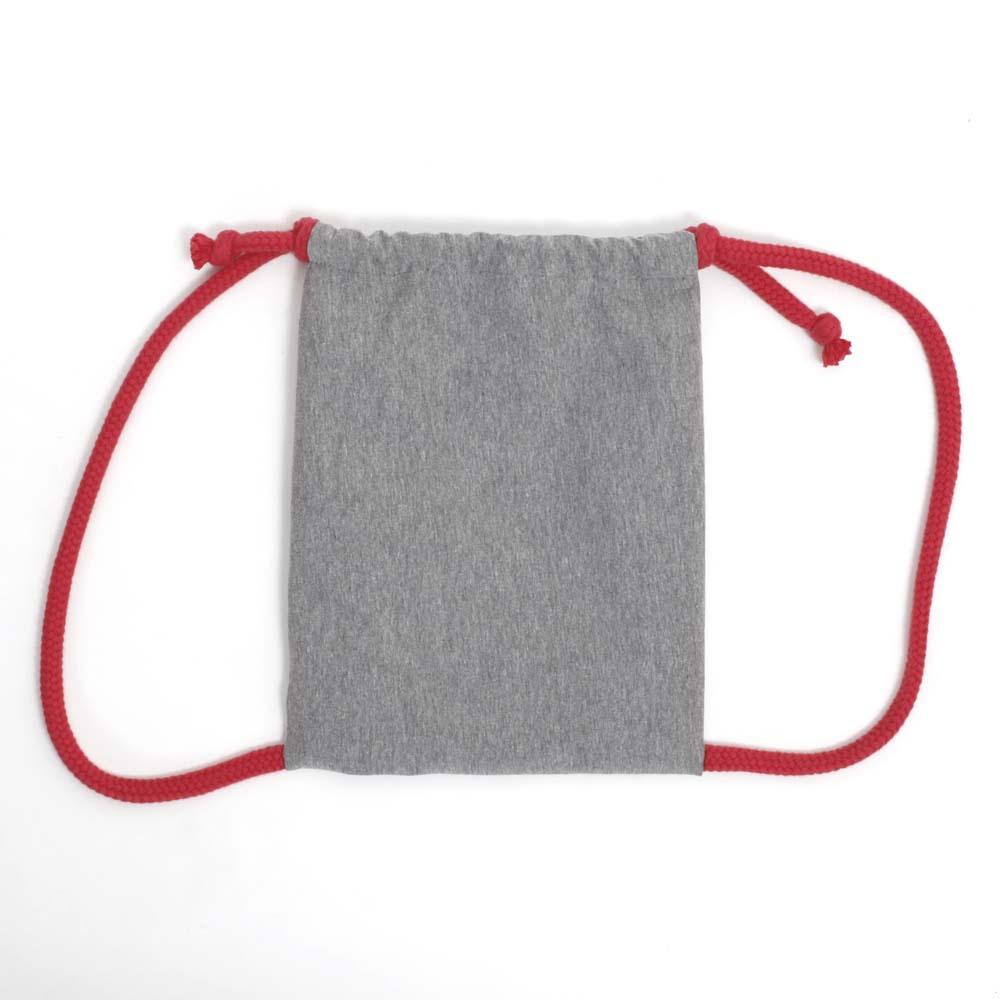 Rucksack zum Bemalen in Rot von hinten