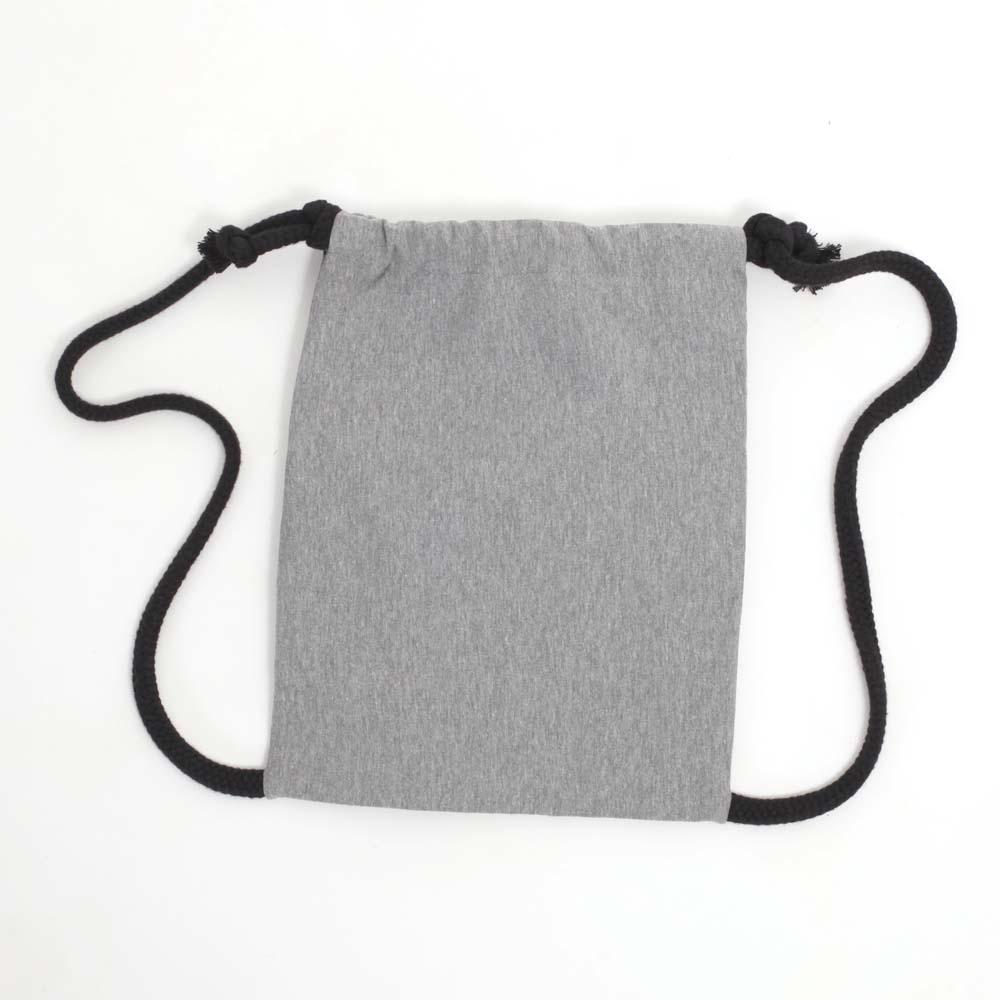 Rucksack zum Bemalen in Schwarz von hinten
