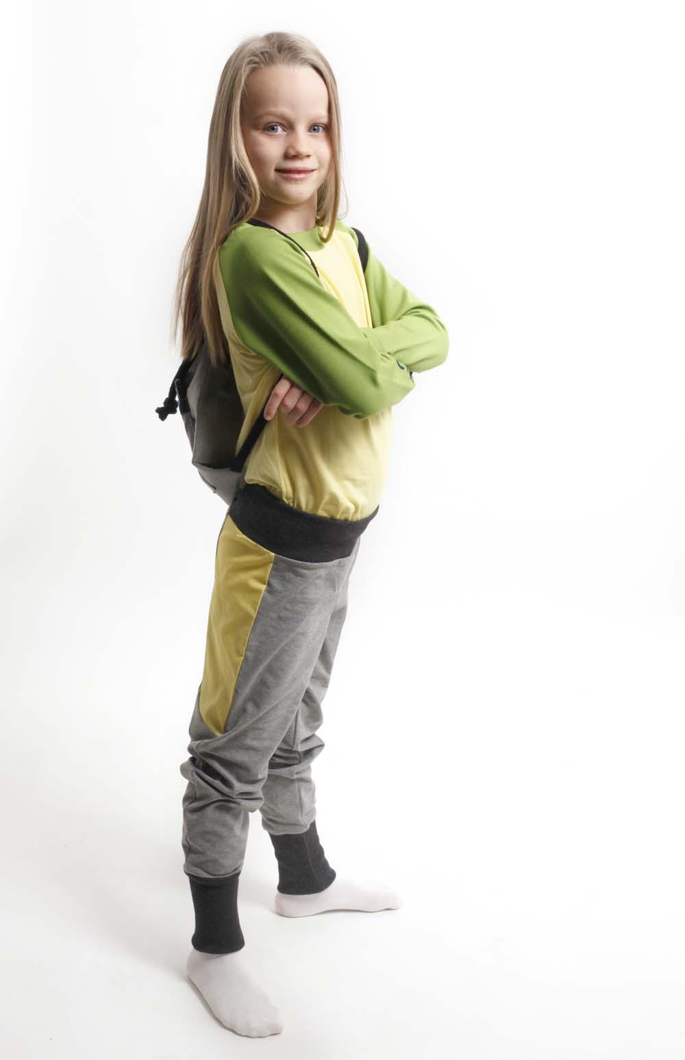 Spielmode-Outfit: Maus-Hose und Froschi in Gelb (Mädchen)