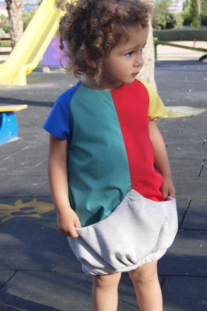 Kleid mit Riesentasche