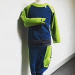 Froschkönig – Sweatpants und Longsleeve mit Handpuppe am Ärmel